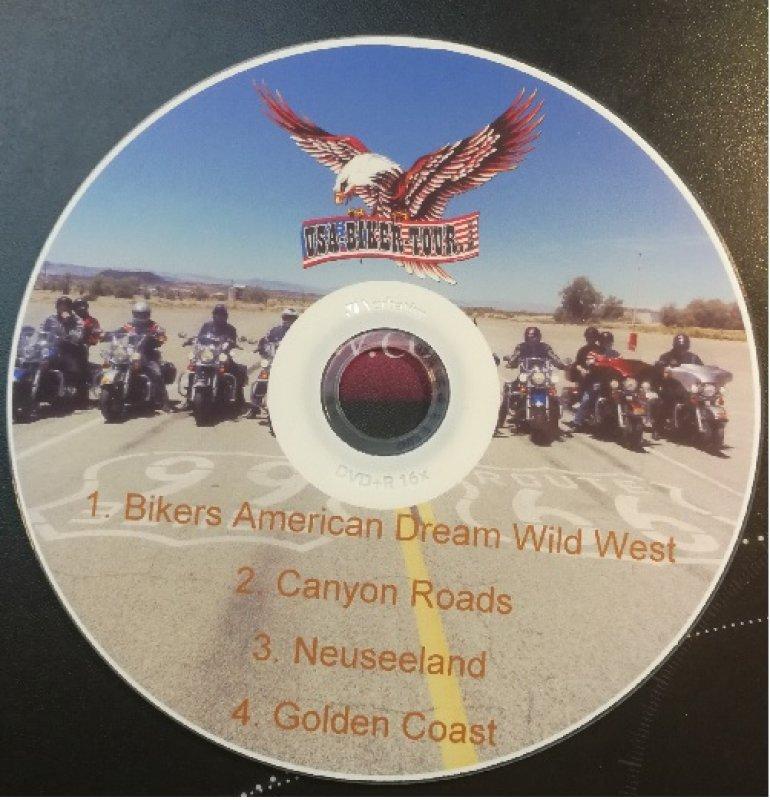 DVD 4 Touren USA-BIKER-TOUR